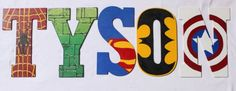 Superhero Hand Painted Wooden Letters of Child's Name for Children's Room/Superman, Spider-Man, The Hulk, Captain America, Batman Custom on Etsy, $13.00