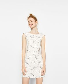Zara 'constellation' print dress