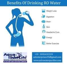 RO removes lead from water and frees people from many diseases. Here are some of its benefits are: 👉 Weight loss 👉 Improve Digestion 👉 Brain 👉 Skin 👉 Headache Cure 👉 Energy Saving 👉 Better Exercise 📲: +91- 9818406309 🌐: www.aslrowaterpurifier.com 📧: aslenterprises35@gmail.com #aslenterprises #brandedRO #kent #livpureRO #aquaguardRO Kent Ro Water Purifier, Headache Cure, Reverse Osmosis Water, Weight Loss Water, Save Energy, The Cure, Exercise, Brain, Life