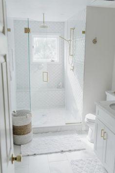 #bathroomfixtures #bathroom #fixtures #white #bathroom #fixtures White Master Bathroom, Gold Bathroom, Modern Bathroom, Shiplap Bathroom, Ikea Bathroom, Bathroom Furniture, Bathroom Layout, Bathroom Fixtures, Bathroom Ideas White