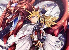 Yugioh - Atem and Slifer The Sky Dragon
