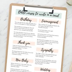 If you like to write an encouraging Bible quote in a card or letter to uplift a friend, this printable pdf is just what you need! It has a selection of different Bible verses for different occasions, whether you're looking for a verses for a new baby, a wedding, a birthday or simply a quote for an encouragement card. By The Lettering Tree. Spiritual Encouragement, Christian Encouragement, Encouraging Bible Quotes, Inspirational Quotes, Motivational Cards, Bible Verses About Strength, Trust God, Helping People, Psalms