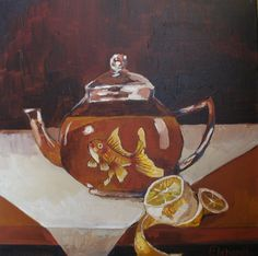 A song of small things (goldfish and teapot), 2013  40 x 40 cm, acrylic on canvas  www.michaelehrhardt.de