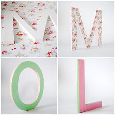 Decorating wooden letters by Torie Jayne
