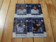 Joe Torre Bernie Williams #2008 Upper Deck #Yankee Stadium Legacy 4 Card Lot | #eBay #Yankees #MLB #ALEast #baseball