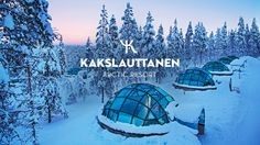 OFFICIAL - Kakslauttanen Arctic Resort in wintertime. Fall asleep under the Northern Lights in this glass igloo hotel.