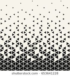 Abstract geometric triangle halftone gradient vector pattern - Tattoo Muster - Tattoo World Geometric Patterns, Graphic Patterns, Geometric Designs, Textures Patterns, Geometric Graphic, Pattern Drawing, Pattern Art, Abstract Pattern, Triangle Design