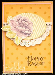 Stippled Blossoms and Distressed Dots by Stampin' Up! Demonstrator Bekka Prideaux