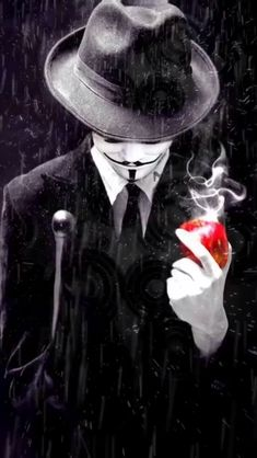 ▪◾ANIMATED PHOTO▪👺ANONYMOUS (PENDULUM EFFECT PLOTAVERSE)👺◾▪Credits: To the Pinterest Artist▪Applications: Plotaverse (Editing and Finishing) Joker Hd Wallpaper, Phone Wallpaper For Men, Hacker Wallpaper, Joker Wallpapers, Black Wallpaper, Gas Mask Art, Masks Art, Foto Do Goku, Animated Clipart