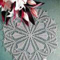 Gorgeous Lace Tablecloth Centerpiece   It is a good design to be a source of inspiration for a circle cardigan    See ...                ...