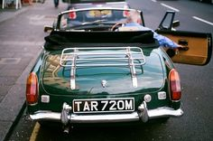 British racing green MGB
