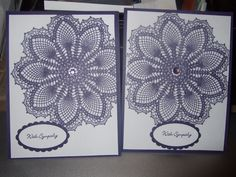 Stampin' Up! Hello Doily, greeting is Teeny Tiny Wishes