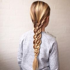 unique and beautiful four strand fishtail braid
