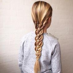 unique & beautiful #fishtail four strand braid n.starck