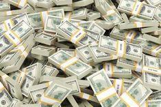 """Cash Stacks Money Bundles Puzzle. Fun size desktop puzzle, 120 pieces. Measures 7.75""""x11.75"""" (27x18cm)19.7x29.85cm A4. High gloss, photo-quality imprinted puzzleboard. Www.famecollectibles.com #FinancePoster"""