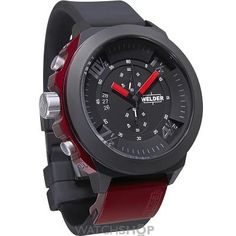 Buy the brilliant Welder by U-Boat Chronograph Black Ion-plated Steel Mens Sport Watch by Welder online today. This popular product is currently available - purchase securely online here today. Mens Sport Watches, Best Watches For Men, Cool Watches, Men's Watches, Dress Watches, Harry Winston, Patek Philippe, Stainless Steel Bracelet, Stainless Steel Case