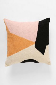 Char-Bea By Ashley G Colorblock Pillow - Urban Outfitters Chaise Vintage, Woman Bedroom, Bedroom Bed, Warm Bedroom, Bedrooms, Deco Design, Home And Deco, Trendy Bedroom, Home Textile