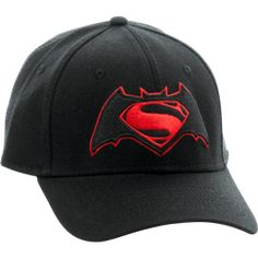 66c163f1812 Dawn of Justice Logo Flex Cap - BM-0209 from Superheroes Direct Batman Vs  Superman