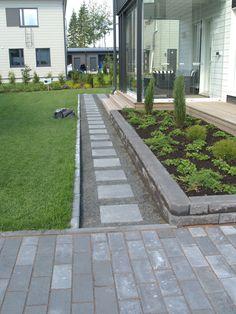 Rooftop Garden, Garden Pool, Garden Paths, Outdoor Landscaping, Outdoor Gardens, Landscape Design, Garden Design, Yard Stones, Garden Inspiration