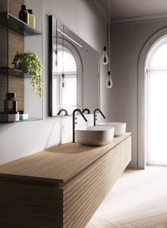 Dolcevita is a collection of bathroom furniture dedicated to those who appreciate a modern, sophisticated bathroom featuring contemporary elegance. White Bathroom Tiles, Minimal Bathroom, Modern Bathroom Design, Bathroom Interior Design, Bathroom Pink, White Tiles, Bathroom Colors, Rustic Bathrooms, Dream Bathrooms