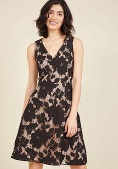 #ModCloth - #ModCloth Posh Participant A-Line Dress in Noir in XS - AdoreWe.com
