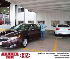 Congratulations to Warren Perilloux on the 2013 Kia Optima