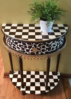 Whimsical Painted Table Half Moon Painted Furniture Leopard Table Painted Furniture African Custom Painted Table Alice In Wonderland - Modern Furniture: Affordable, Unique, Edgy Whimsical Painted Furniture, Hand Painted Furniture, Funky Furniture, Handmade Furniture, Repurposed Furniture, Sofa Furniture, Shabby Chic Furniture, Furniture Makeover, Cheap Furniture