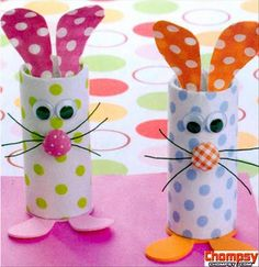 toilet paper roll crafts easter bunny