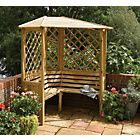 Buy Grange Fencing Valencia Corner Arbour with Table at Argos.co.uk - Your Online Shop for Garden benches and arbours.