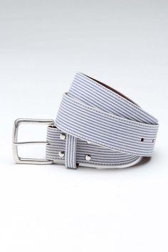 Goodale Seersucker Leather Belt
