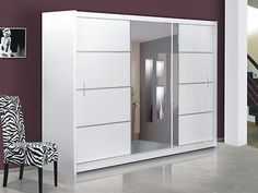 Modern Design Quality sliding door wardrobe with mirror VISTA WHITE in Home, Furniture & DIY, Furniture, Wardrobes | eBay