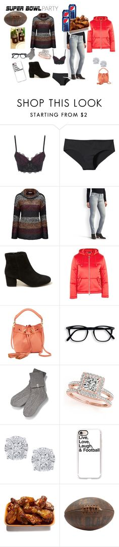 """""""Super Bowl Party"""" by emily-richardson-alvarez ❤ liked on Polyvore featuring Patagonia, Joe Browns, Lee, Hollister Co., Topshop, Danielle Nicole, UGG, Allurez, Effy Jewelry and Casetify"""