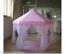 PINK PRINCESS Party Tent CASTLE PLAY Indoor Outdoor CHILD KID Sleepover Girls