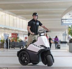 Airport security is expected to be one of the major uses for the new $12,000 Segway SE-3...