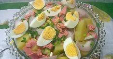 Μια πολύ νόστιμη πατατοσαλάτα, με μαγιονέζα αλλά και γιαούρτι, πεντανόστιμη, που μπορεί να είναι και το κυρίως πιάτο σας.  Φαίνεται πολύ... Cobb Salad, Potato Salad, Potatoes, Eggs, Breakfast, Ethnic Recipes, Food, Morning Coffee, Potato