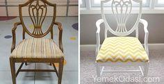 Eski Sandalyeleri Yenileme Hala kırılmayan eski kullanılmayan sandalyeleriniz varsa, iç tasarımın bütün görüntüsünü değiştirerek ilginç ve modern sandalye modellerine dönüştürebilirsiniz. Eski sandalyelerinize çok para harcamadan onları değiştirerek evinize, yemek odanıza yenilik katabilirsiniz. Sandalyelerinizi Boyayın  ... http://www.yemekodasi.com/eski-sandalyeleri-yenileme/  #EskiSandalyelerNasılYenilenir, #EskiSandalyeleriDeğerlendirme, #