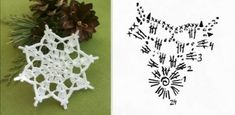Crochet Snowflake Pattern, Crochet Snowflakes, Crochet Patterns, Crochet Christmas Ornaments, Christmas Snowflakes, Xmas, Thread Crochet, Knit Crochet, Crochet Flats