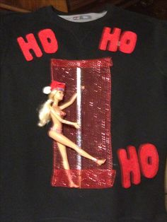Last minute idea for a ugly Christmas sweater party..                                                                                                                                                                                 More