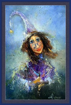 Russian Artists New Wave Framed Print featuring the painting Fairy by Igor Medvedev #RussianArtistsNewWave #IgorMedvedev #Painting #Cottage #FramedPrint