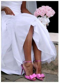 Zapatos de novia con color