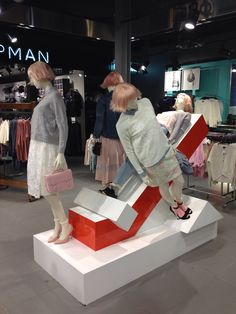 "Top Shop mannequin styling Melbourne,Australia by Josh Skarstrom,""Up and Down or Side-to-Side', pinned by Ton van der Veer"