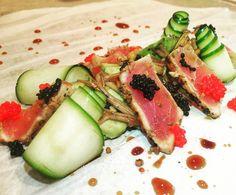 טטאקי טונה אבוקדו קוויאר... פיצוץ של טעמים! tataki tuna and Caviar.  #instagram #elbarbas #vivalabarda #bardacoa #picanha #churrasco #carne #amigos #familia  #premium #Angus #delicia #parrilla #carnes #ancho #brahma #instafood #foodporn #foodgram #likeforlike #like4like #instamood #food #foodie #tataki #tuna #sashimi  #chef #chefworld #gargeran by 144amit