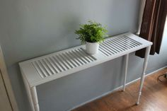 Shutter Table--Re-purpose a shutter into a sofa table.