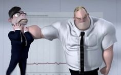 Different types of conflict in literature illustrated with Incredibles images