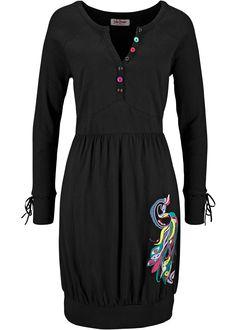 Shirtjurk zwart - John Baner JEANSWEAR nu in de onlineshop van bonprix.nl vanaf ? 29.99 bestellen. Elegante shirtjurk met fraaie print voorop en elastiek in ...