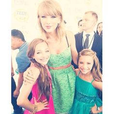Taylor with Maddie and Mackenzie from Dance Moms.