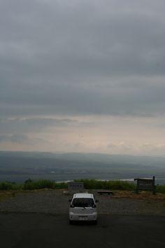 A car parked on a hill at Yamakoshi village in Niigata pref.