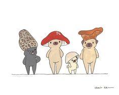 Mushroom Hat Crew - Pug Painting — Chickenpants Studio Dog Paintings, Original Paintings, Original Art, Stuffed Mushroom Caps, Stuffed Mushrooms, Mushroom Hat, Pug Illustration, Pug Photos, Pug Art