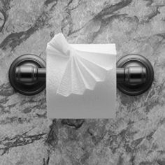 """""""FRILL"""" instructions in """"Toilet Paper Origami on a Roll: Decorative Folds and Flourishes for Over-the-Top Hospitality"""" by Linda Wright   ♦ http://www.amazon.com/dp/0980092337/"""