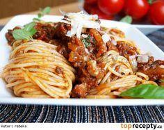 Boloňské špagety Gnocchi, Spaghetti, Food And Drink, Treats, Cooking, Ethnic Recipes, Bulgur, Sweet Like Candy, Kitchen